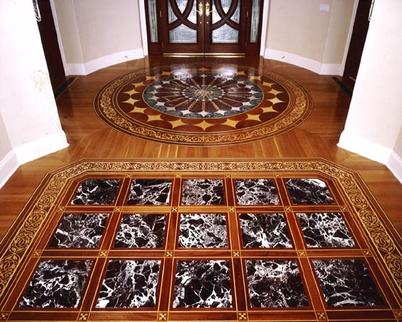 Renaissance Floor Inlays custom medallions and borders
